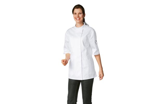 Abbigliamento professionale bragard cucina giacche da cucina verana giacca cuoca bianca - Abbigliamento da cucina ...